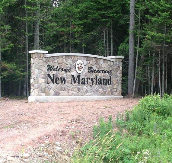 New Maryland sign